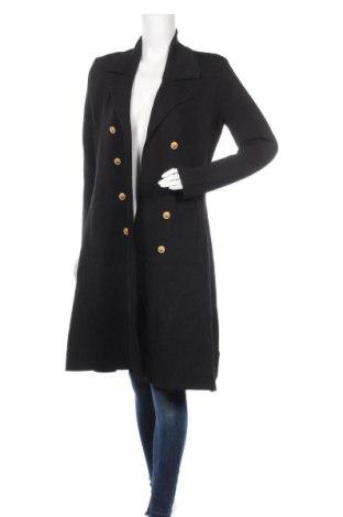 Дамско палто Feathers, Размер M, Цвят Черен, 58% вискоза, 28% полиамид, 14% еластан, Цена 36,23лв.