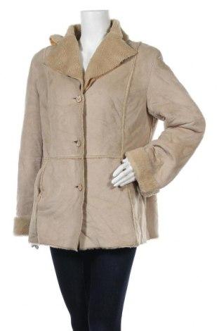 Дамско палто Fischer, Размер L, Цвят Бежов, 49% полиестер, 51% акрил, Цена 11,34лв.