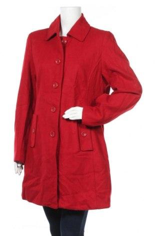 Дамско палто George, Размер L, Цвят Червен, 52% вълна, 48% полиестер, Цена 36,54лв.