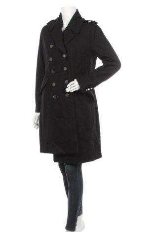 Дамско палто H&M, Размер L, Цвят Черен, 60% вълна, 35% полиестер, 5% други нишки, Цена 63,84лв.