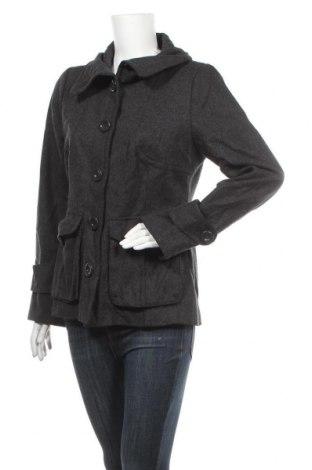 Дамско палто H&M, Размер M, Цвят Сив, 60% вълна, 30% вискоза, 10% полиестер, Цена 12,08лв.