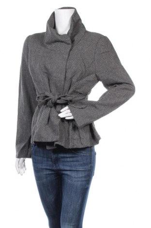 Дамско палто H&M, Размер XL, Цвят Сив, 60% полиестер, 40% вълна, Цена 12,60лв.