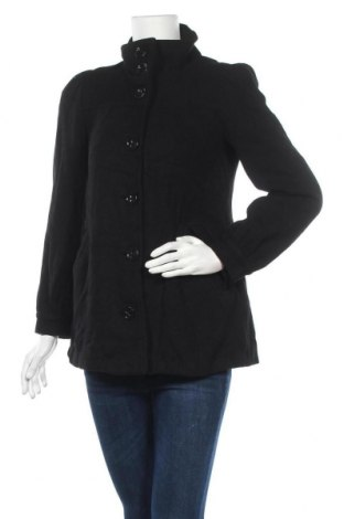Дамско палто H&M, Размер S, Цвят Черен, 70% вълна, 30% вискоза, Цена 25,52лв.