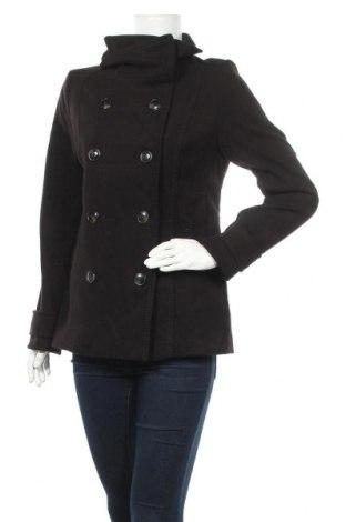 Дамско палто H&M, Размер L, Цвят Черен, Полиестер, Цена 14,49лв.