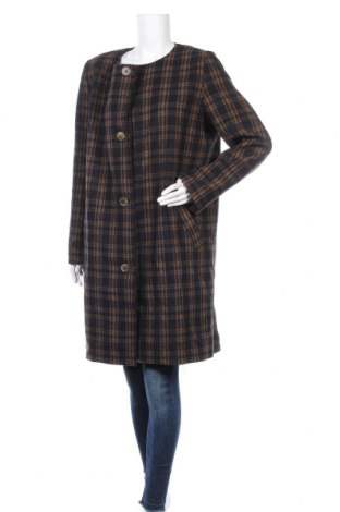 Дамско палто H&M, Размер L, Цвят Черен, 57% вълна, 33% полиестер, 10% други тъкани, Цена 37,49лв.