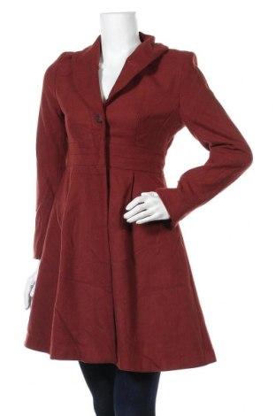 Дамско палто H&M, Размер S, Цвят Кафяв, 55% полиестер, 25% вълна, 20% вискоза, Цена 46,41лв.
