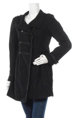 Дамско палто H&M, Размер L, Цвят Черен, 60% вълна, 40% вискоза, Цена 20,79лв.
