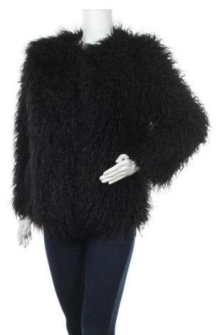 Дамско палто H&M, Размер S, Цвят Черен, 60% акрил, 21% полиестер, 19% акрил, Цена 54,60лв.