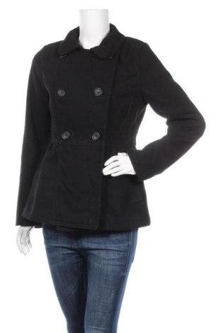 Дамско палто H&M Divided, Размер M, Цвят Черен, 87% полиестер, 12% вискоза, 1% еластан, Цена 11,03лв.