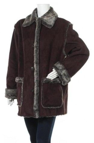 Дамско палто Hucke, Размер L, Цвят Кафяв, 63% полиакрил, 37% полиестер, Цена 52,66лв.