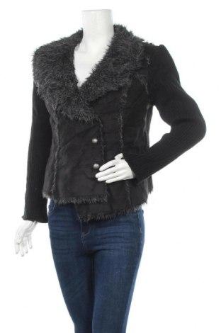 Дамско палто Jendi, Размер M, Цвят Черен, Полиестер, Цена 20,58лв.