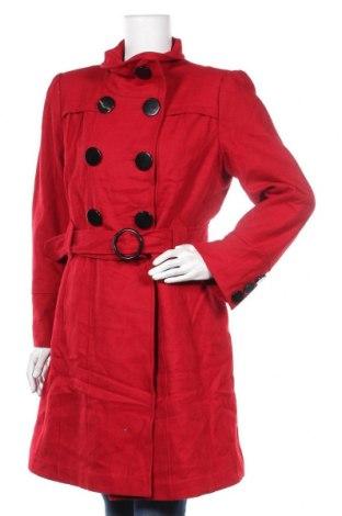 Γυναικείο παλτό Jessica, Μέγεθος M, Χρώμα Κόκκινο, 52% μαλλί, 37% πολυεστέρας, 8% βισκόζη, 3%ακρυλικό, Τιμή 27,48€