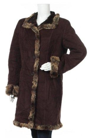 Дамско палто Jessica, Размер L, Цвят Кафяв, 60% акрил, 40% модал, Цена 75,81лв.