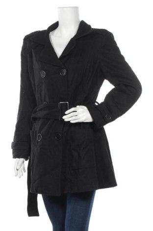 Дамско палто Just For You, Размер XL, Цвят Черен, 50% вълна, 35% полиестер, 5% акрил, 5% вискоза, 5% други нишки, Цена 18,06лв.