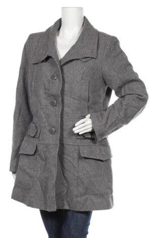 Γυναικείο παλτό KappAhl, Μέγεθος M, Χρώμα Γκρί, 60% μαλλί, 30% βισκόζη, 10% άλλα υφάσματα, Τιμή 36,37€