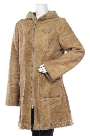 Γυναικείο παλτό KappAhl, Μέγεθος XL, Χρώμα  Μπέζ, Πολυεστέρας, Τιμή 32,42€