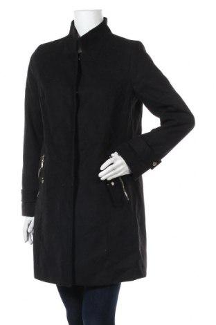 Дамско палто La Redoute, Размер M, Цвят Черен, 88% полиестер, 11% вискоза, 1% еластан, Цена 67,20лв.