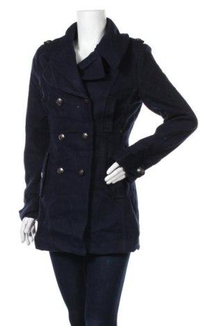 Дамско палто La Redoute, Размер S, Цвят Син, 60% вълна, 30% полиестер, 10% други тъкани, Цена 49,96лв.