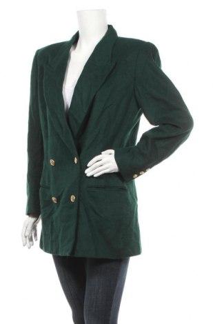 Дамско палто Liz Claiborne, Размер M, Цвят Зелен, 60% вълна, 20% полиамид, 20% кашмир, Цена 75,60лв.