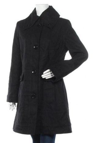 Дамско палто Liz Claiborne, Размер M, Цвят Черен, 58% вълна, 22% полиестер, 10% вискоза, 6% акрил, 4% други тъкани, Цена 54,60лв.
