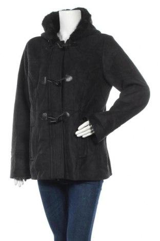Дамско палто Liz Claiborne, Размер L, Цвят Черен, Полиестер, Цена 36,96лв.