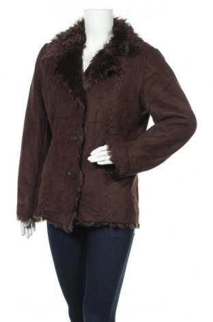 Дамско палто Liz Claiborne, Размер M, Цвят Кафяв, Полиестер, Цена 57,86лв.