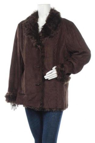 Дамско палто Liz Claiborne, Размер XL, Цвят Кафяв, Полиестер, Цена 42,84лв.