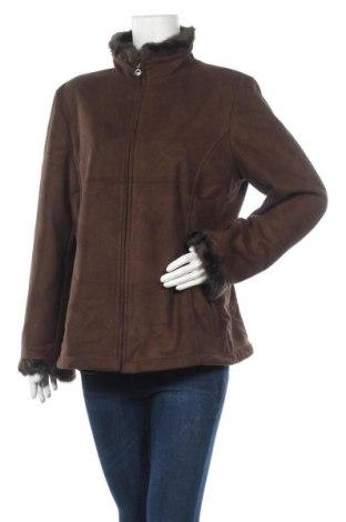 Дамско палто Liz Claiborne, Размер L, Цвят Кафяв, Полиестер, Цена 48,72лв.