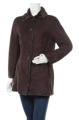 Дамско палто Liz Claiborne, Размер M, Цвят Кафяв, Полиестер, Цена 41,16лв.