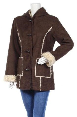 Дамско палто Liz Claiborne, Размер M, Цвят Кафяв, Полиестер, Цена 78,75лв.