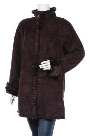 Дамско палто Liz Claiborne, Размер L, Цвят Кафяв, Полиестер, Цена 58,80лв.