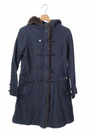 Дамско палто Lux, Размер M, Цвят Син, 69% памук, 14% полиестер, 11% акрил, 6% вискоза, Цена 27,30лв.