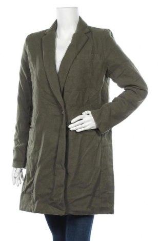 Дамско палто Made In Italy, Размер M, Цвят Зелен, 90% полиестер, 10% вълна, Цена 17,64лв.