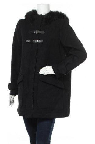 Γυναικείο παλτό Mango, Μέγεθος XL, Χρώμα Μαύρο, 59% μαλλί, 35% πολυεστέρας, 4% βισκόζη, 2%ακρυλικό, Τιμή 48,06€