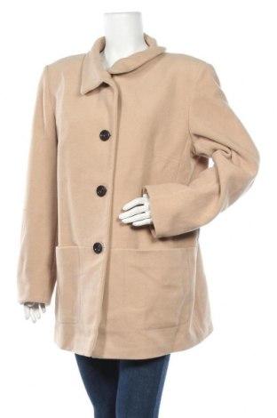 Дамско палто Marco Pecci, Размер XL, Цвят Бежов, 70% вълна, 20% полиестер, 10% кашмир, Цена 25,20лв.