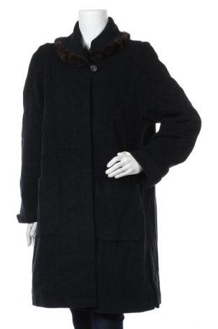 Дамско палто Marcona, Размер M, Цвят Черен, Вълна, естествен косъм, Цена 25,04лв.