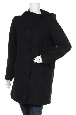 Дамско палто Mbym, Размер L, Цвят Черен, 50% вълна, 45% полиестер, 5% други тъкани, Цена 53,87лв.