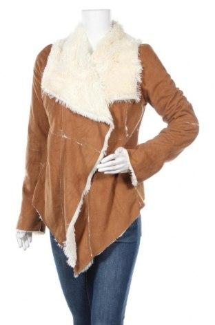 Дамско палто Me Jane, Размер S, Цвят Кафяв, Полиестер, Цена 28,67лв.
