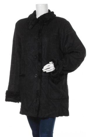 Γυναικείο παλτό New View, Μέγεθος XXL, Χρώμα Μαύρο, Πολυεστέρας, Τιμή 21,30€