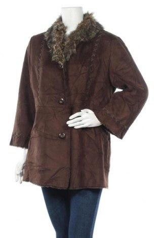 Дамско палто Novelti, Размер L, Цвят Кафяв, 86% акрил, 14% полиестер, Цена 16,80лв.