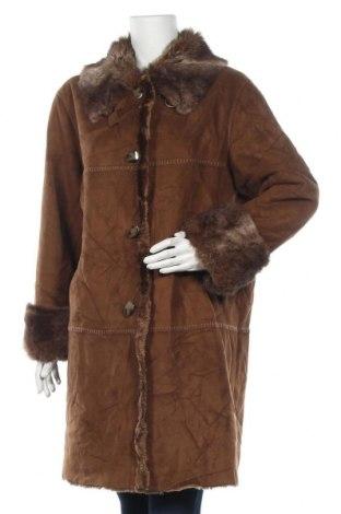 Дамско палто Novelti, Размер L, Цвят Кафяв, Полиестер, Цена 24,57лв.