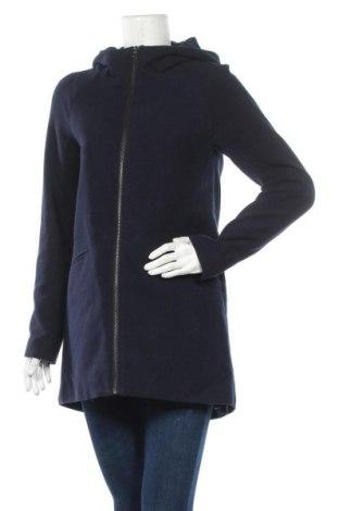 Дамско палто ONLY, Размер S, Цвят Син, 90% полиестер, 8% вискоза, 2% еластан, Цена 39,27лв.