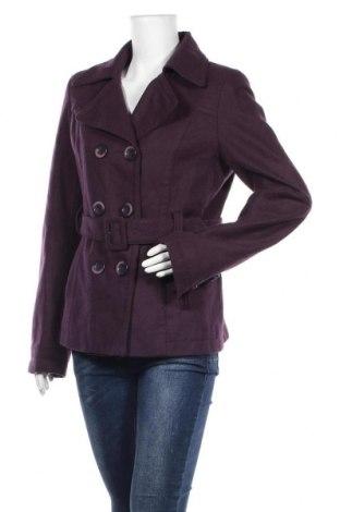 Дамско палто Orsay, Размер L, Цвят Лилав, 56% вълна, 34% полиестер, 4% вискоза, 4% полиакрил, 2% полиамид, Цена 23,31лв.