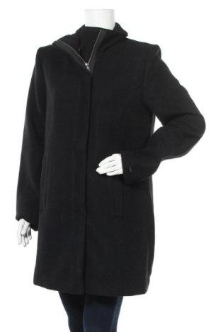 Γυναικείο παλτό Oxmo, Μέγεθος XL, Χρώμα Μαύρο, 70% πολυεστέρας, 30% μαλλί, Τιμή 49,36€