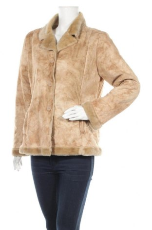 Дамско палто Papaya, Размер M, Цвят Бежов, 48% полиестер, 52% акрил, Цена 15,23лв.