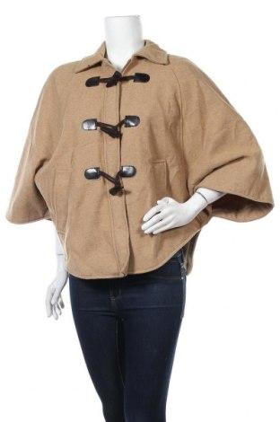 Дамско палто Pimkie, Размер M, Цвят Кафяв, 61% полиестер, 22% вълна, 17% акрил, Цена 20,48лв.