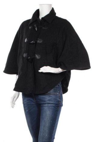 Дамско палто Pimkie, Размер M, Цвят Черен, 34% акрил, 31% полиестер, 30% вълна, 5% полиамид, Цена 12,92лв.