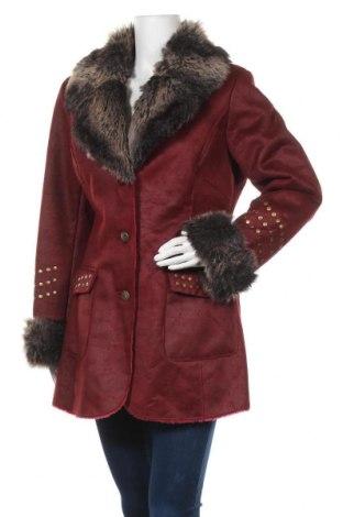 Дамско палто Pompoos Design By Harald Gloockler, Размер L, Цвят Червен, Полиестер, Цена 56,70лв.