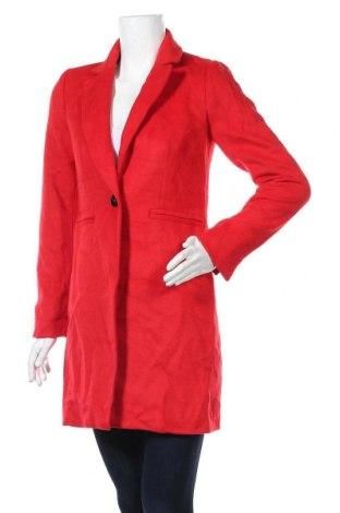Дамско палто Portmans, Размер XS, Цвят Червен, 70% полиестер, 30% вълна, Цена 90,30лв.
