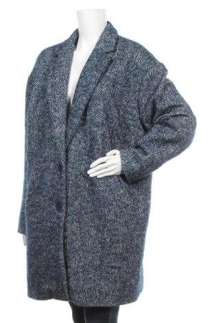 Γυναικείο παλτό Rainbow, Μέγεθος XL, Χρώμα Μπλέ, 50% πολυεστέρας, 31% μαλλί, 17%ακρυλικό, 2% πολυαμίδη, Τιμή 37,67€